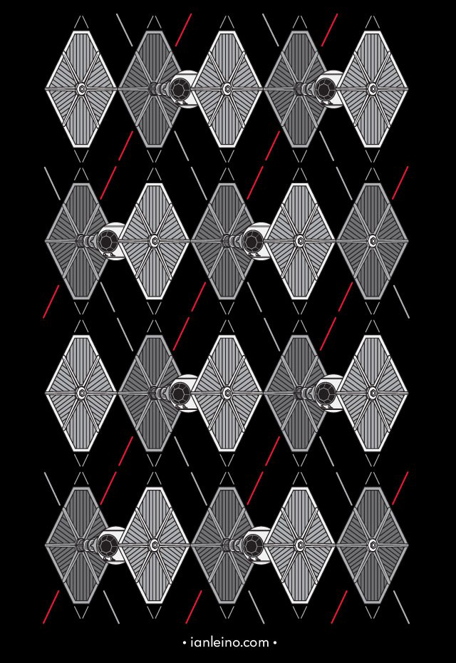 Argyle Fighters A Classy 'Star Wars' Shirt Design Featuring A TIE Amazing Star Wars Pattern