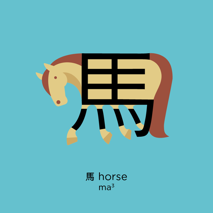 Chineasy Horse Illustration