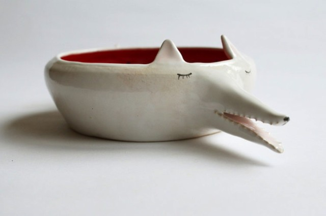 Delightful Handmade Ceramic Dishware Shaped Like Animals