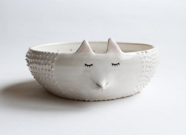 Delightful Handmade Ceramic Dishware Shaped Like Animals