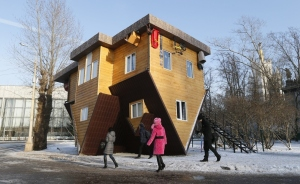 Upside Down House in Moscow