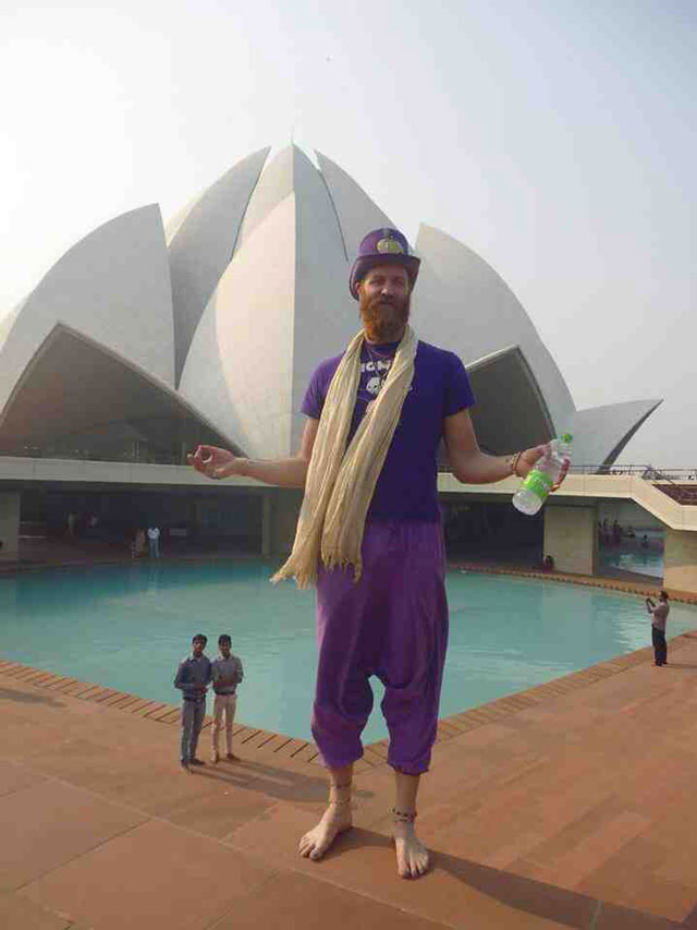Optical Illusion Snapshot Taken at Indian Temple