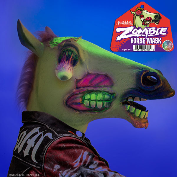 Glowing Zombie Horse Mask by Archie McPhee