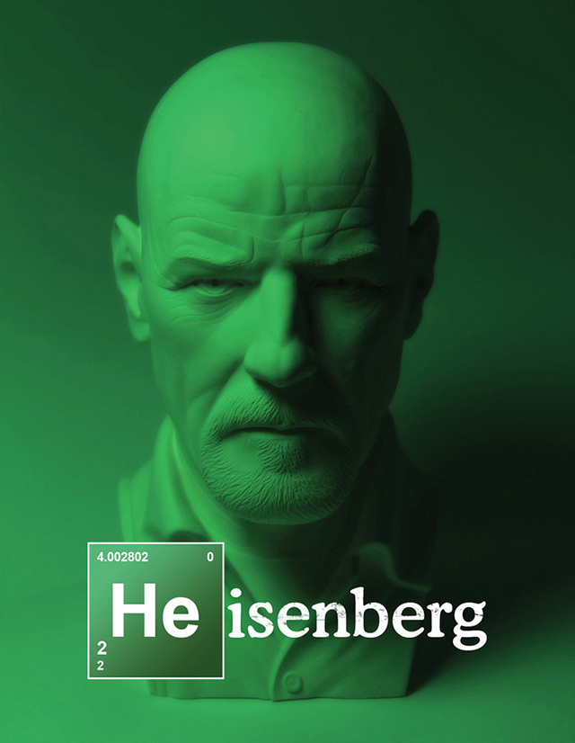 Bust of Heisenberg from Breaking Bad