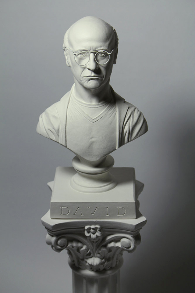 Bust of Larry David from Curb Your Enthusiasm