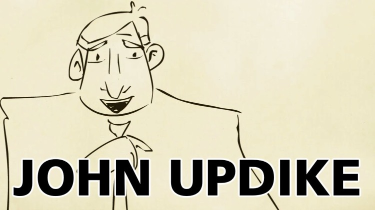 John Updike Talks About Family and Work in 2002 Interview Animated by PBS