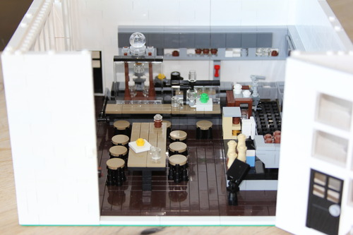 LEGO version of a Blue Bottle Cafe
