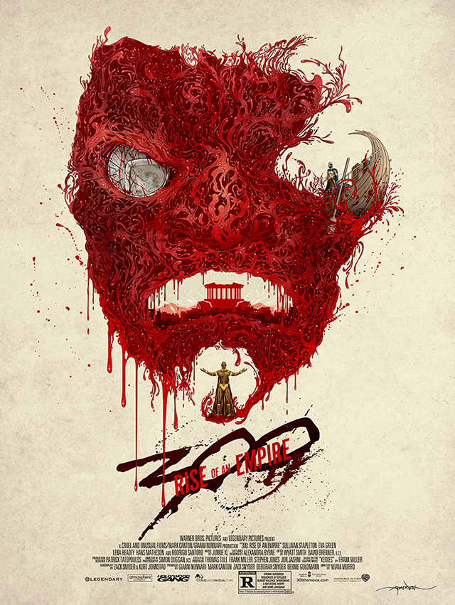 300: Rise of an Empire Poster by Alex Pardee
