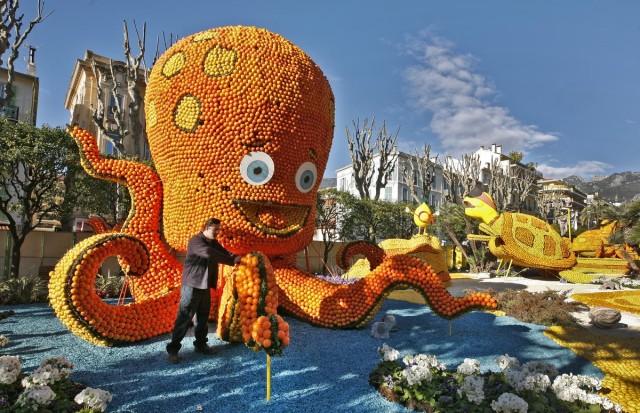 Lemon Festival Sculptures