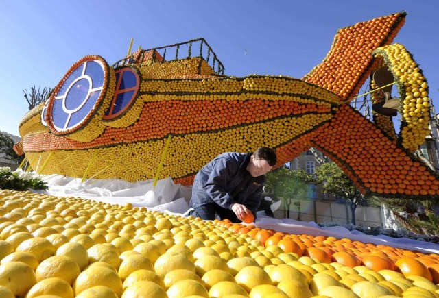 Lemon Festival Sculptures