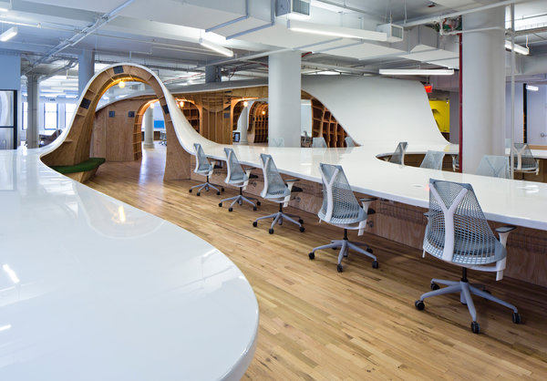 Continuous 'Superdesk' at The Barbarian Group HQ