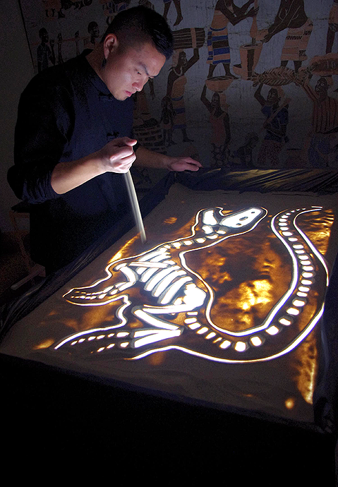 Sand Art by Jin Lee