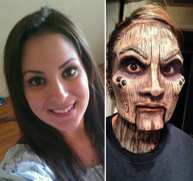 Wooden Doll Makeup by Stephanie Hernandez