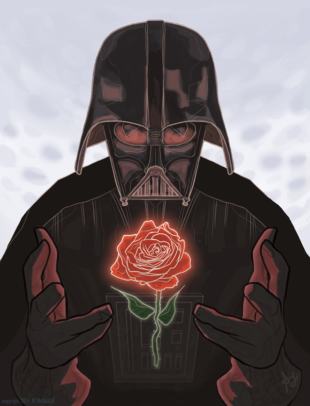 Darth Vader Valentines Day Card