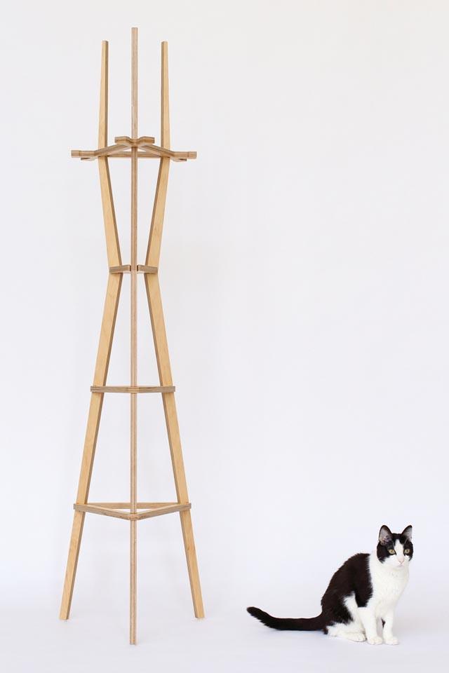 Sutro Tower Coat Rack