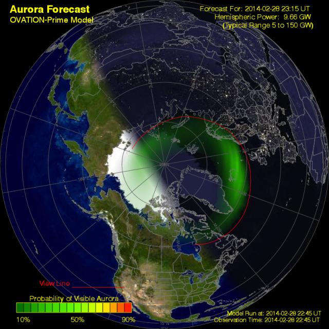 Aurora Borealis Map