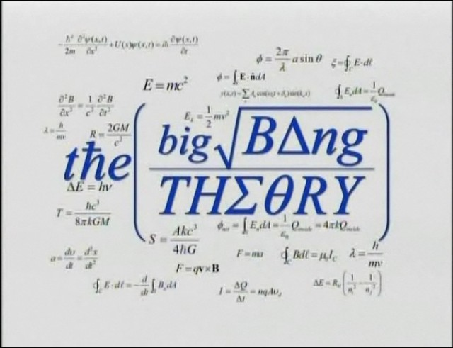 Big Bang Theory Pilot Opening Credit
