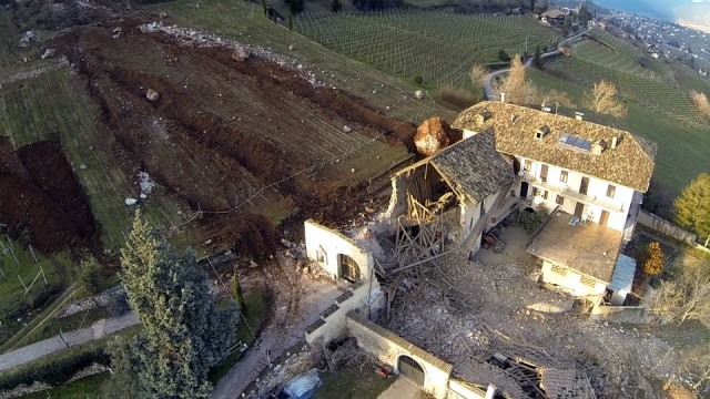 Boulder Destroys Family Farm