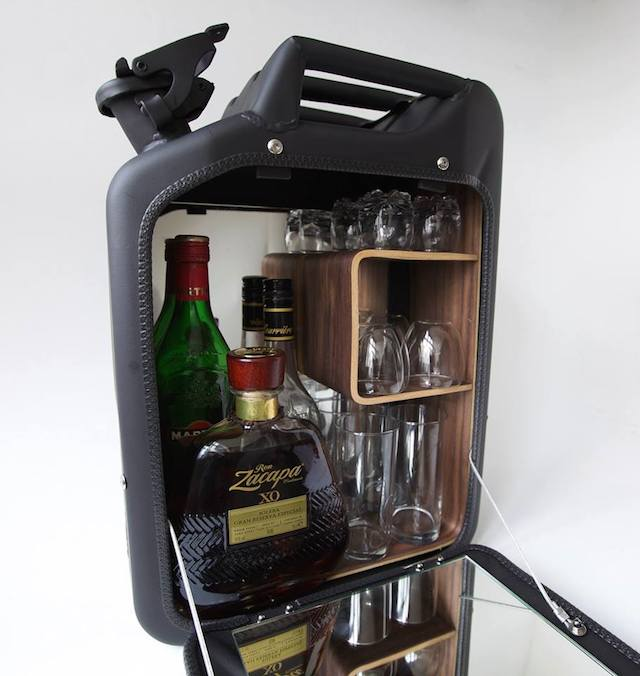 World War II Jerry Cans Transformed Into Bar Cabinets