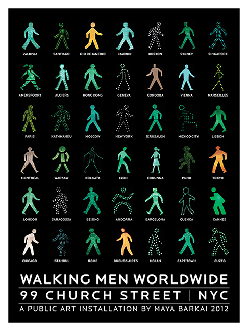 Walking Men Photo Installation