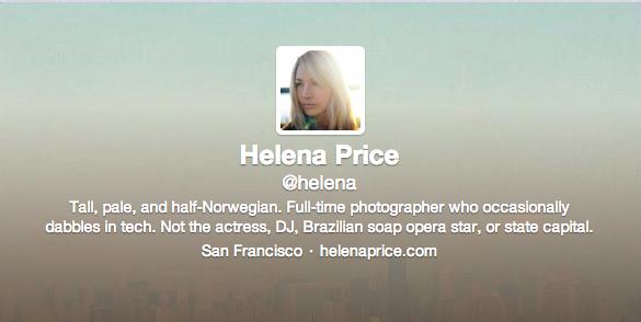 Helena Price Twitter Header