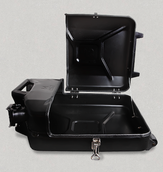 Jerry Can Suitcase Open