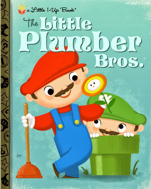 Nintendo Video Game Titles Reimagined as Classic Little Golden Books