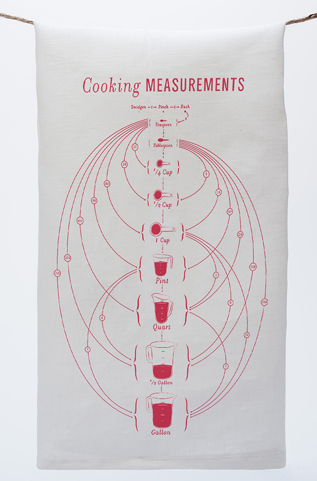Cooking Measurements Tea Towel
