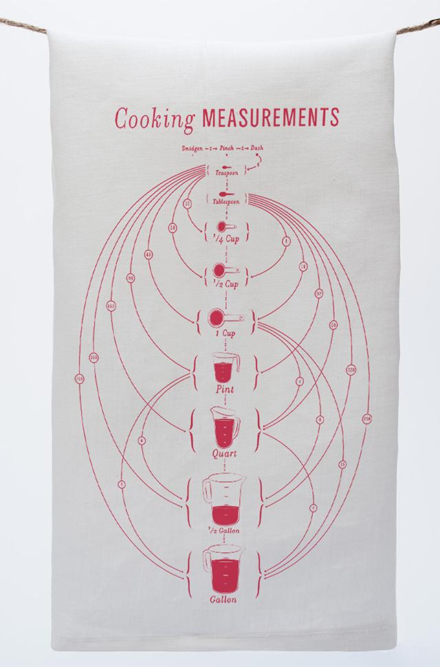 Cooking Measurements Tea Towel