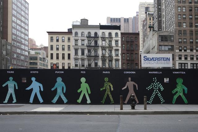 Walking Men Photo Installation