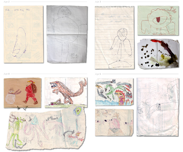 Artist Posts a Gallery Showing How His Drawings Have Progressed From Age 2 to 24