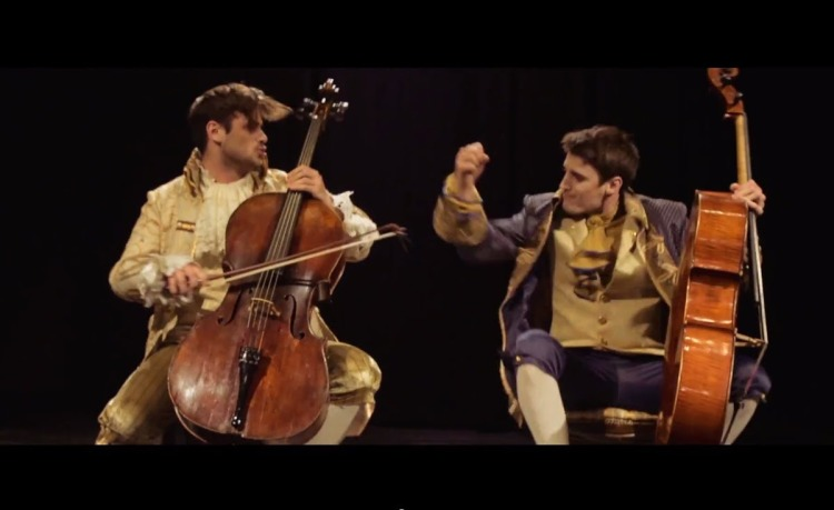 Powerful Cello Cover of AC/DC's 'Thunderstruck' by 2CELLOS