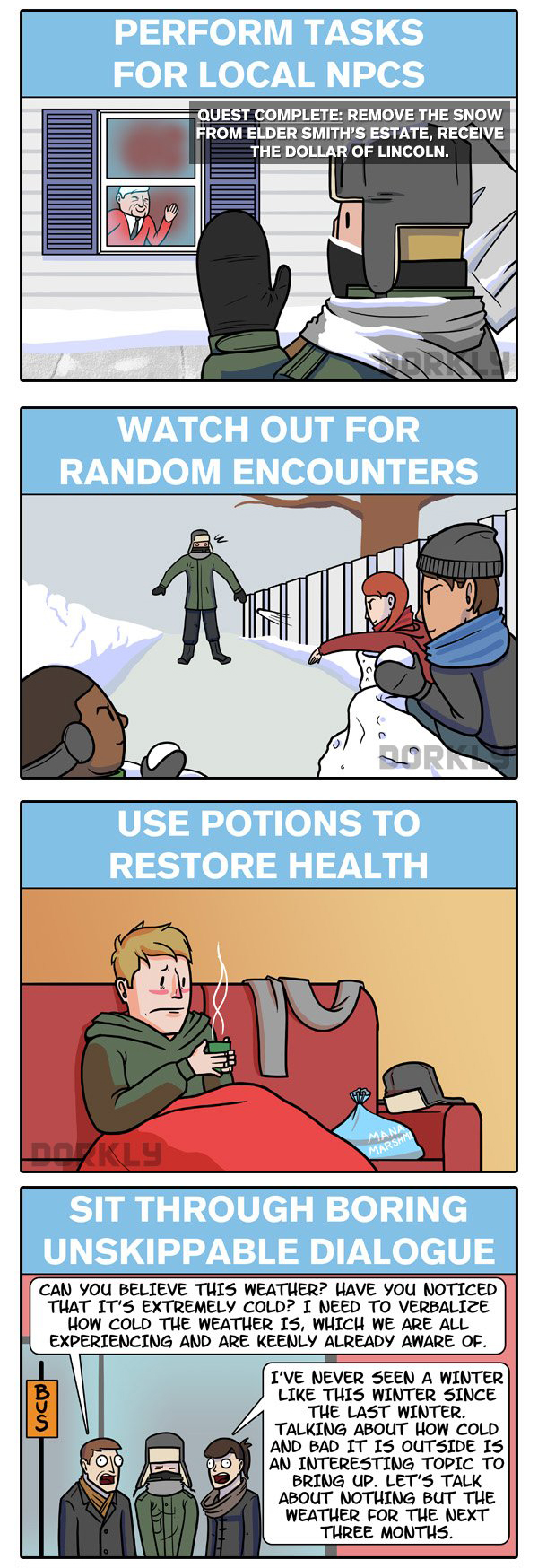 Winter is Like Being in a RPG