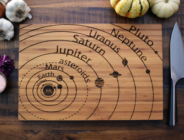 a series of custom cutting boards featuring engraved science and, Kitchen design