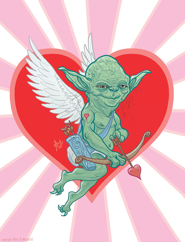STAR WARS Yoda Cupid Love Card