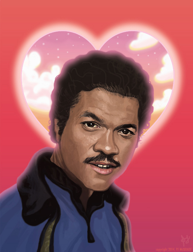 STAR WARS Love Card featuring Lando Calrissian