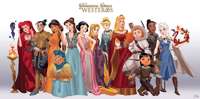 Disney Princesses as Game of Thrones