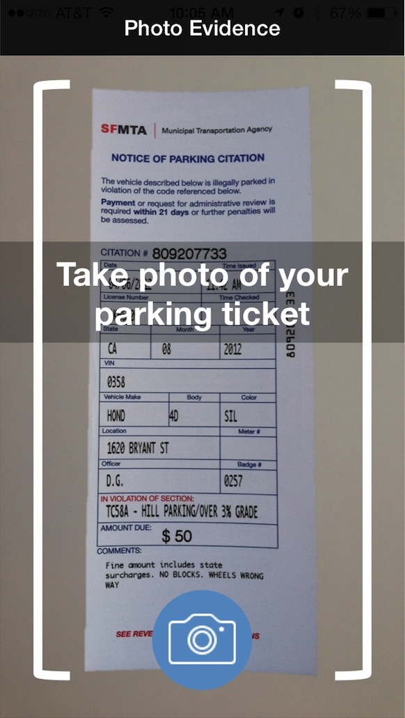 Fixed App Ticket Photo