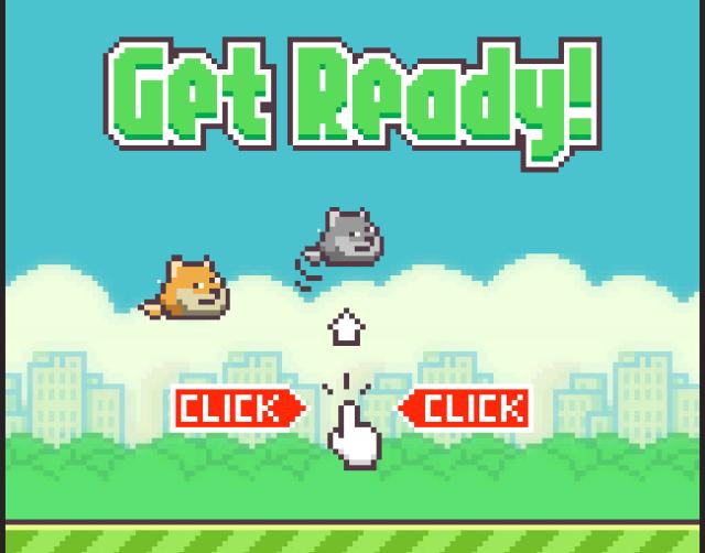 Flappy Doge Start Screen