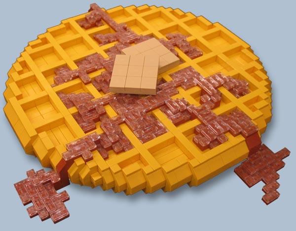 LEGO Food sculptures