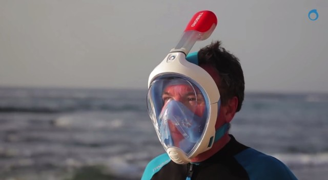 Easybreath, A Full Face Snorkeling Mask That Lets You Breathe Through Your Nose and Mouth
