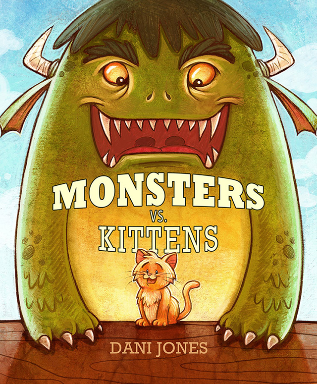 Monsters vs. Kittens by artist Dani Jones