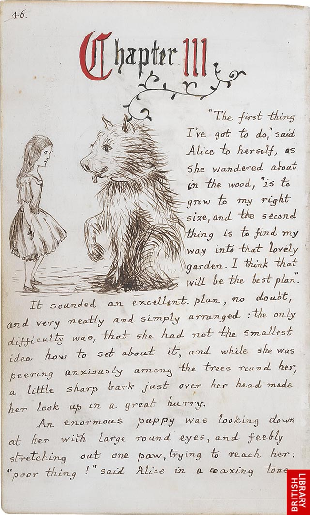 The Original Manuscript of Alices Adventures in Wonderland