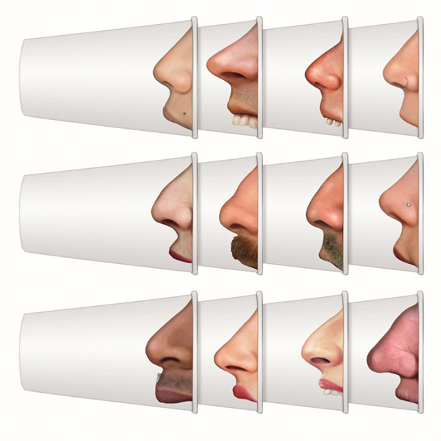 Pick Your Nose Party Cups, Funny Paper Cups with Photo-Realistic Images of Noses Printed on the Side