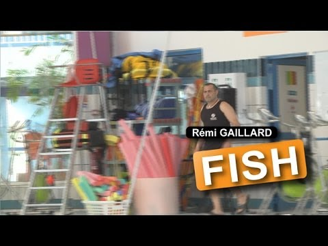Rémi Gaillard Surprises a Man by Dressing Up as a Giant Fish and Flopping Around in an Empty Pool