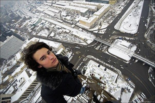 Kirill Oreshkin Climbing Selfie