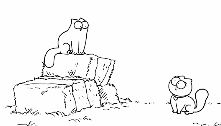 Simon's Cat Tries to Impress A Pretty Feline in 'Smitten'