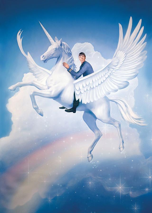 Spock Riding a Unicorn by Tim O'Brien