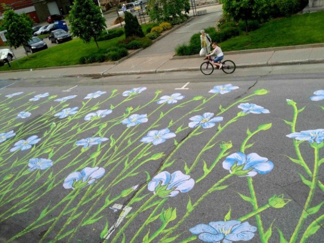 Nature Inspired Street Art by Roadsworth