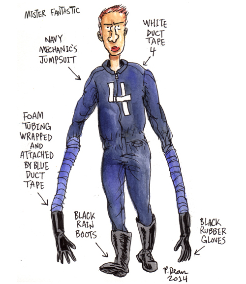 Affordable Mr. Fantastic Getup